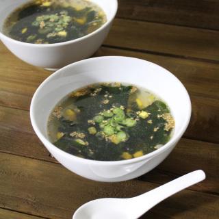 ワカメとコーンの中華スープ ローフード