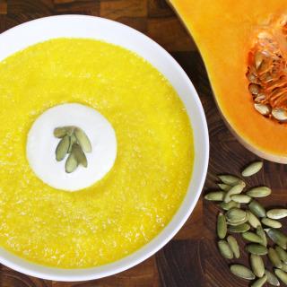 バターナッツかぼちゃのスープ [ローフード]