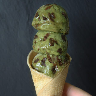 ミントチョコチップ・バナナアイスクリーム ローフード