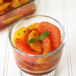 オレンジとグレープフルーツのメープルシロップ漬け [ローフード]