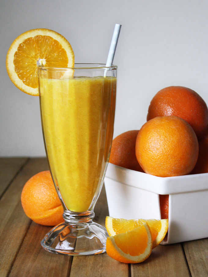 バニラオレンジスムージー ローフード