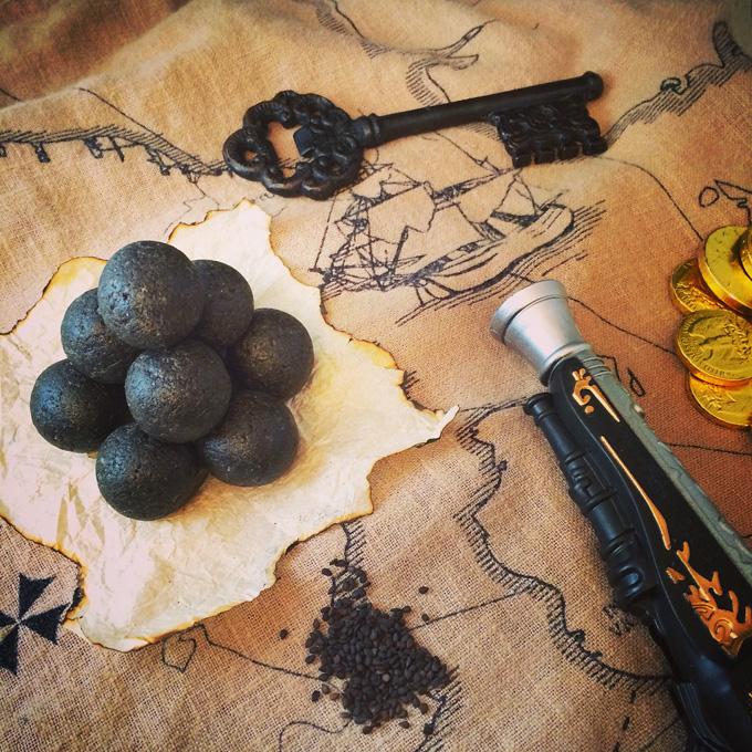 black sesame bliss balls - musket balls
