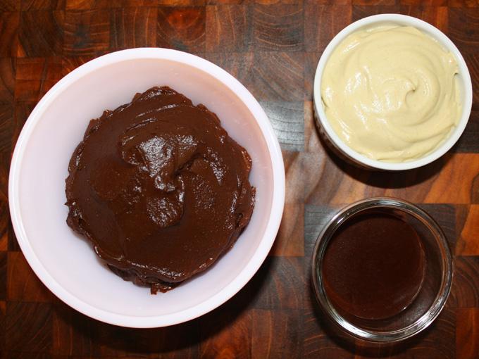 chocolate orange pudding layout