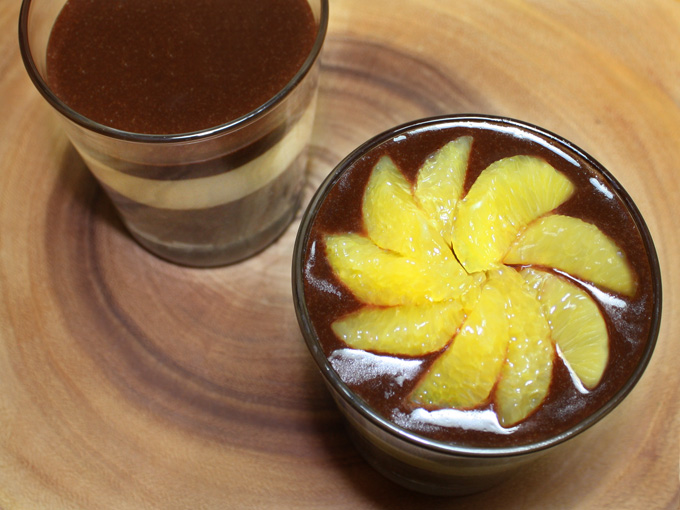 raw vegan chocolate orange pudding