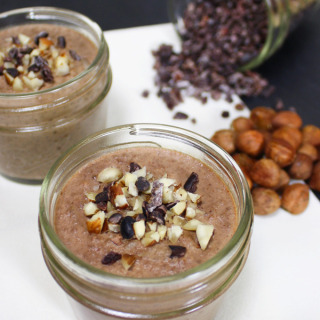 Raw Vegan Chocolate Hazelnut Chia Pudding