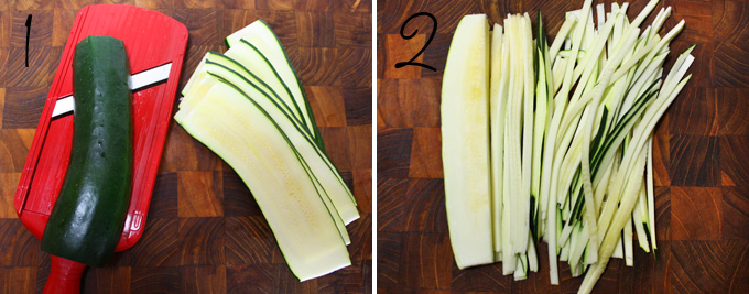 how to make pasta with a mandoline slicer