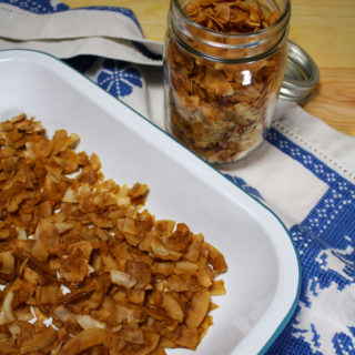 raw vegan coconut bacon