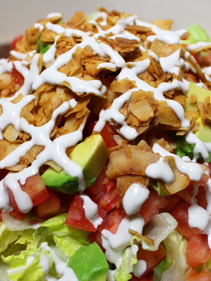 raw vegan blt salad