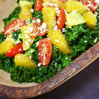 Raw Vegan Orange Kale Salad