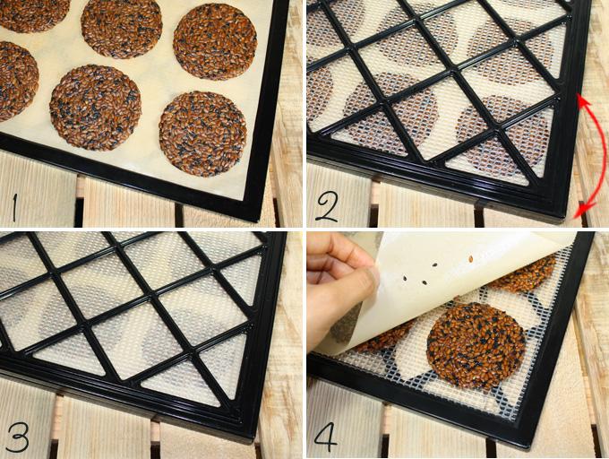 raw vegan Japanese black sesame flax cracker