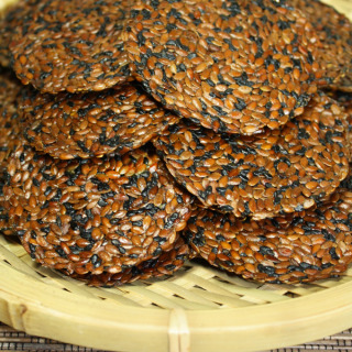 Almost Raw Vegan Japanese Black Sesame Flax Crackers