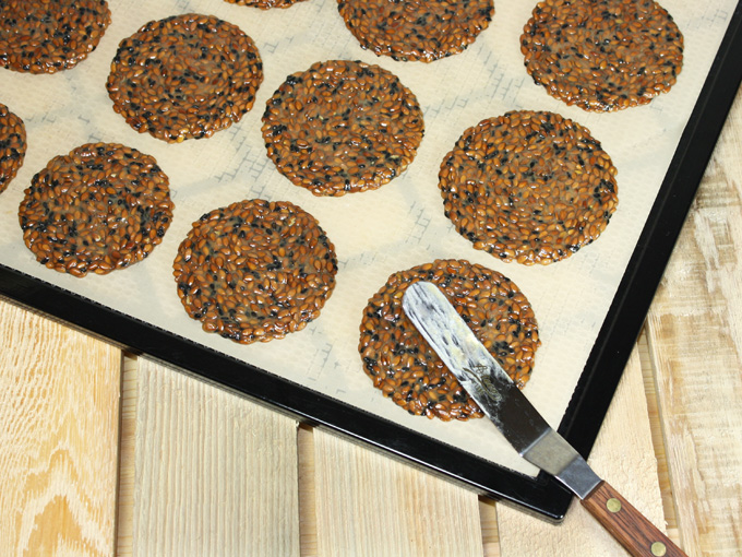 raw vegan Japanese black sesame flax cracker