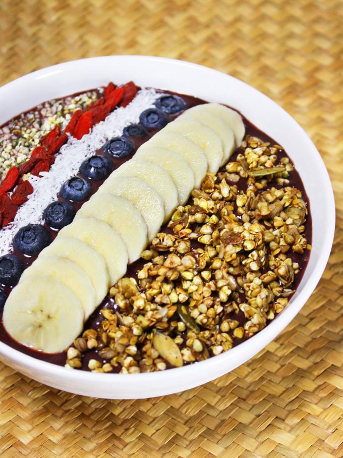 how to make acai bowl without acai powder