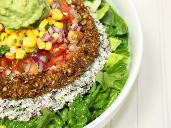 raw vegan chipotle inspired taco salad