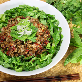 Raw Vegan Thai Larb Inspired Salad