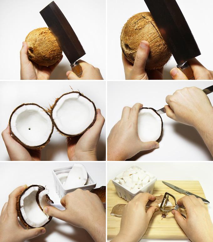 homemade raw vegan coconut milk