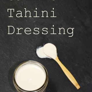 raw vegan garlic tahini dressing