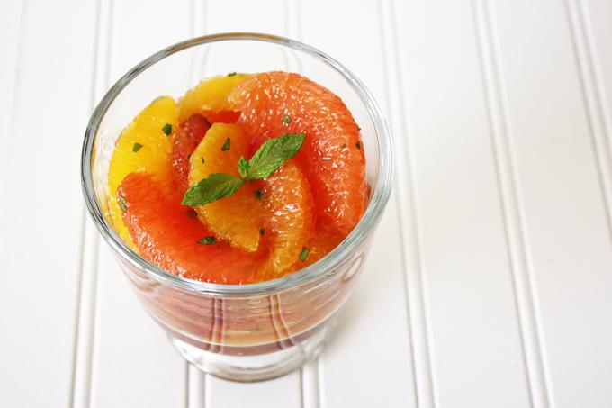 raw vegan mapled oranges and grapefruit