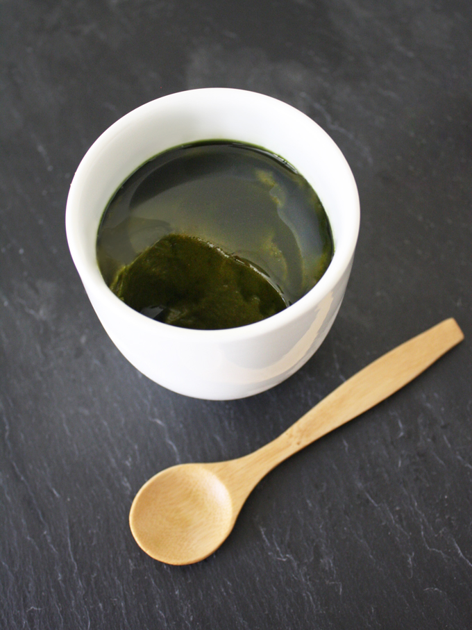 raw vegan matcha green tea avocado pudding