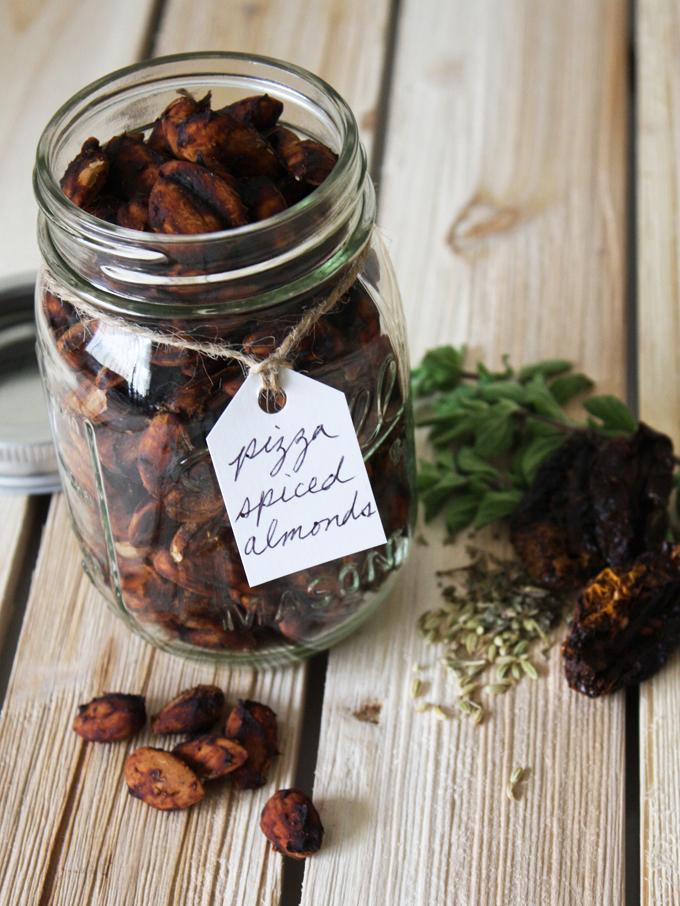 raw vegan pizza spiced almonds