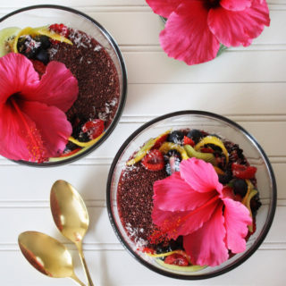 Raw Vegan Agua de Jamaica (Hibiscus Tea) Chia Pudding