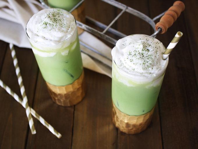 raw vegan Matcha green tea latte