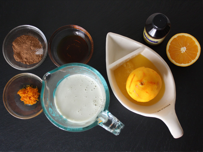 raw vegan chocolate orange chia pudding