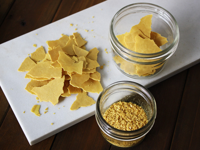 raw vegan parmesan shards