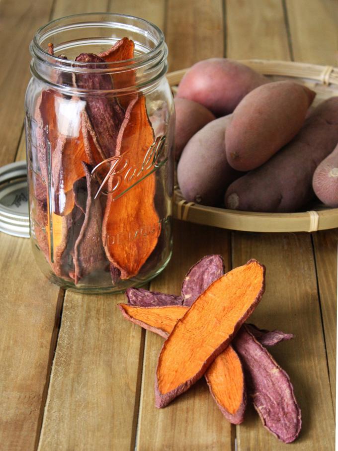 raw vegan sweet potato jerky dog treats