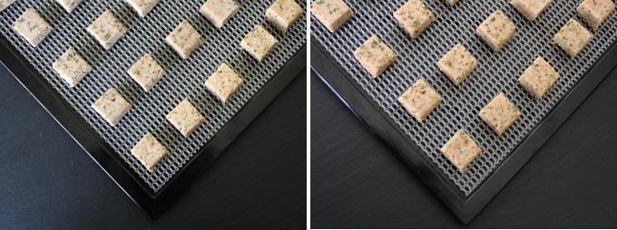 raw vegan garlic rosemary croutons
