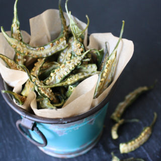 Raw Vegan Okra Chips