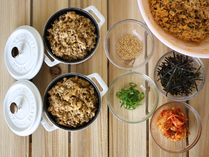raw vegan kimchi risotto