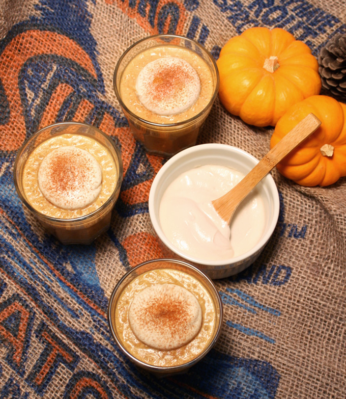 raw vegan pumpkin chia pudding