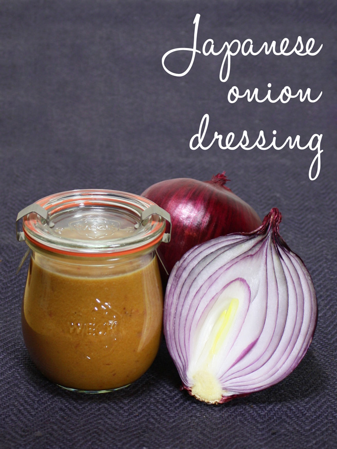 raw vegan Japanese onion dressing