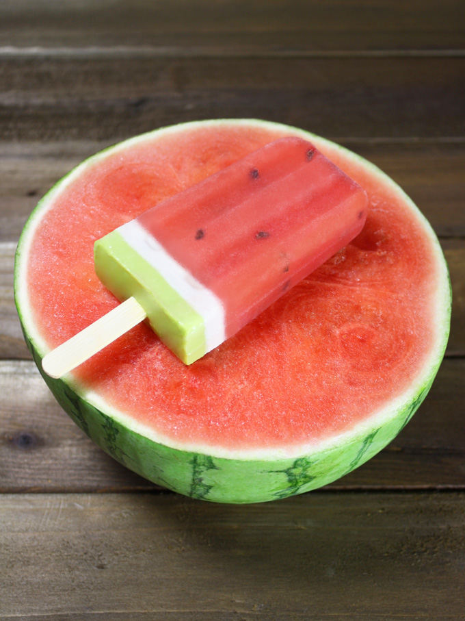 raw vegan watermelon popsicle