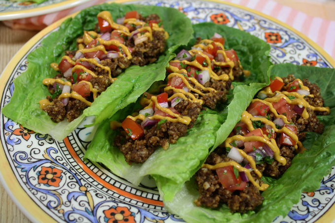raw vegan lettuce leaf tacos
