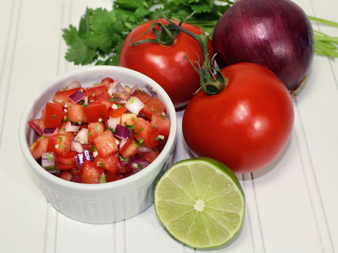 raw vegan pico de gallo
