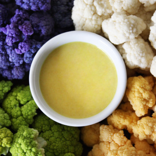 raw vegan maple mustard dipping sauce