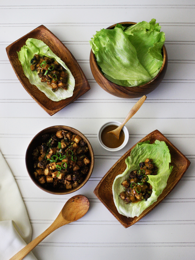 P.F. Chang's inspired raw vegan lettuce wraps