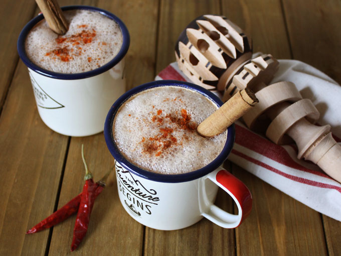 raw vegan Mexican hot chocolate