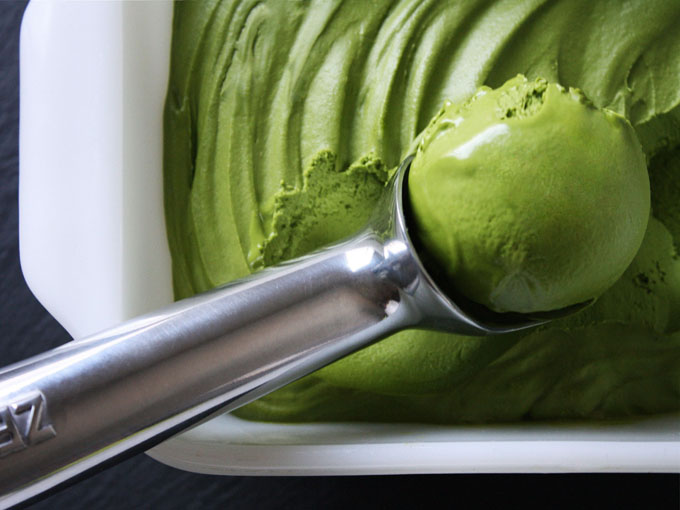 raw vegan matcha green tea ice cream