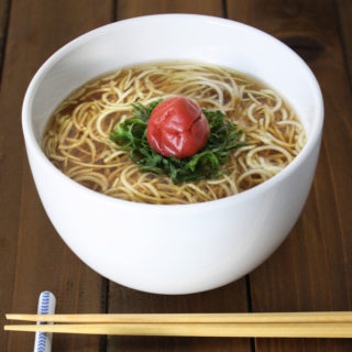 Raw Vegan Ume Pickled Plum Noodle Soup