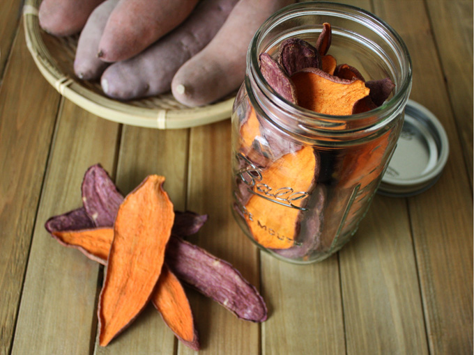 raw vegan sweet potato jerky dog treats