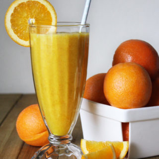 raw vegan orange creamsicle smoothie